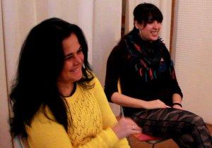 Psicólogas de los talleres. Maite Márquez y Cecilia Ruano.